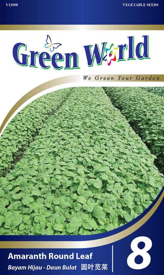 Amaranth Round Leaf Green World Genetic
