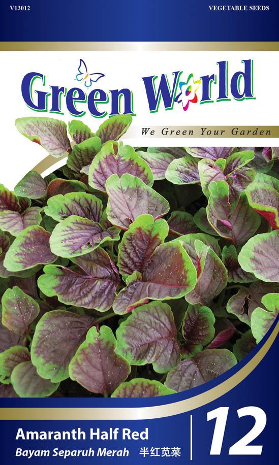 Amaranth Half Red Green World Genetic